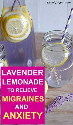 Lavender Lemonade To Relieve Migraines And Anxiety