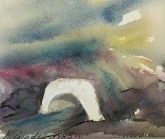 #307, aquarelle, 1985, 5,5'' x 4,5'', 30$ Paradis, Painting, Art, Watercolor Paintings, Art Background, Painting Art, Kunst, Gcse Art, Paintings