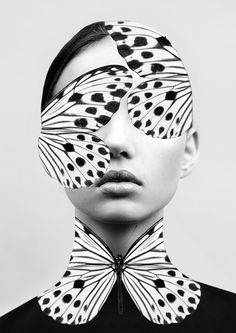 """lesstalkmoreillustration: """" Woman Butterfly Art Print by Dada22 *More Things & Stuff """""""