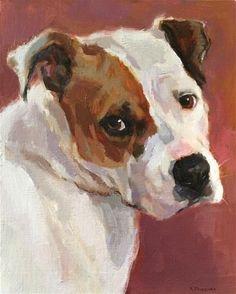 Kona Bean by Katya Minkina, Oil, 10 x 8 Watercolor Animals, Watercolor Paintings, Illustrations, Dog Portraits, Animal Paintings, Dog Art, Art Techniques, Beautiful Artwork, Painting Inspiration