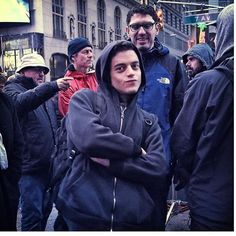 Behold the original pic of rami and @samesmail before it got all meme-d up #mrrobot