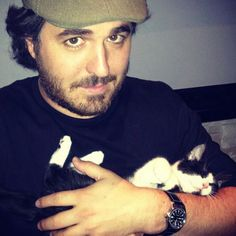 Brian Quinn loves his cats!