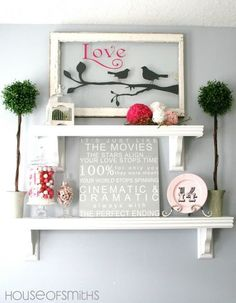 Decor ideas to Valentine's Day, interior photo
