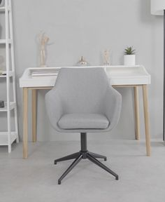 Silla giratoria tapizada Nora | WestwingNow Chair, Furniture, Home Decor, Shopping, Office Furniture, Home Office, Cozy Chair, Swivel Chair, Desk Chairs