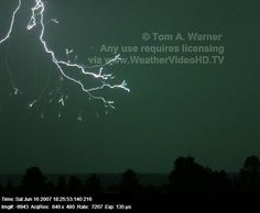 Lightning captured at 7,207 images per second by ZT Research.