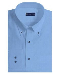 Buy Markham Blue cotton formal shirts for men online made out of ...