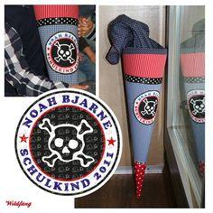 Schultüte - Zuckertüte  #pirat #einschulung #schultuete #wildfangbykatharina