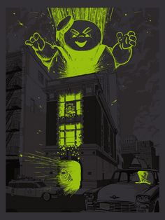 Cool Series of New York Inspired Movie Art  Ghostbusters