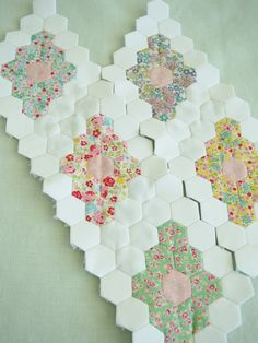 @ Pretty by Hand - Beautiful WIP - hexagon diamonds