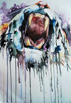 Knarles....tiger painting. Watercolor.