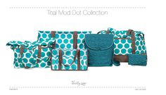 Teal Mod Dot and Jade Quilted Dots - New Fall Designs and Fabrics!  www.mythirtyone.com/292841