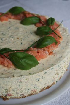 Savory Cheesecake, A Food, Food And Drink, Scandinavian Food, Salty Cake, Flan, Cheesecakes, No Bake Cake, Finger Foods