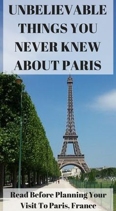 Unbelievable things you never knew about Paris. Read before planning your visit to Paris, France. be prepared for a fairly packed Paris itinerary for this quick 4 day guide of the best things to do in Paris. Click to read more at https://www.divergenttravelers.com/long-weekend-in-paris/