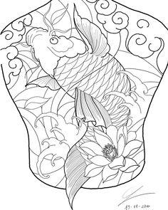 Japanese Flower Tattoo, Japanese Tattoo Designs, Japanese Flowers, Japanese Art, Koi Tattoo Design, Japan Tattoo Design, Koy Fish Tattoo, Hannya Mask Tattoo, Oriental Tattoo
