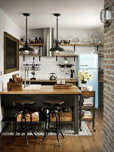 Стиль лофт в интерьере маленькой квартиры, маленькая квартира в стиле лофт, дизайн маленькой квартиры в стиле лофт