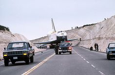 Space Shuttle Enterprise being towed to Space Launch Complex 6 at Vandenberg Air Force Base 1985. | Flickr - Photo Sharing!