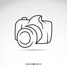 Line art camera symbol logo template Free Vector Best Photography Logo, Splash Photography, Photography Themes, Photography Exhibition, Camera Clip Art, Camera Drawing, Camera Logo, Kamera Tattoos, Camera Tattoo Design