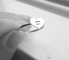 Marriage Equality Ring Sterling Silver Ring by GirlBurkeStudios #LGBT #LGBTQ #Equality
