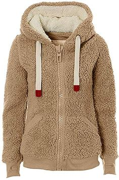 C/&H Girl Sherpa Hoodie Fashion Warm Overcoat Parkas Jackets Coat