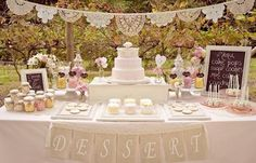wedding desert bars