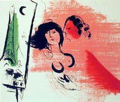 """""""Green Eiffel Tower,"""" Marc Chagall, 1957"""