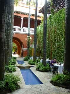Tropics Garden in Cartagena, Colombia with Tables.