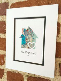 Nuestro regalo primera Home personalizado inicio por HandmadeHQ