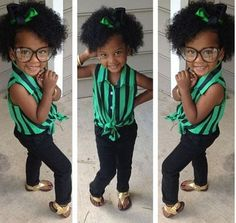 chic-curls:    The most adorable little thing I have ever seen! Rock ya natural lil mama!