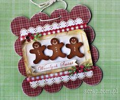 Zawieszka Bożonarodzeniowa Christmas Cards, Christmas Ornaments, Gingerbread, Scrapbooking, Ceramics, Seasons, My Favorite Things, Desserts, Crafts