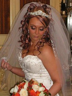 wedding hair with veil and tiara - Google Search