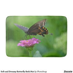 Soft and Dreamy Butterfly Bath Mat