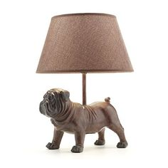Unique Bulldog Lamp Is Perfect For Dog Lover's Study or Den  ... from PetsLady.com ... The FUN site for Animal Lovers