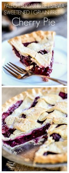 The best cherry pie! Paleo and sugar free, made with stevia and NO grains! Delicious and perfect dessert! http://joyfulbite.com/?s=pie&button=Search