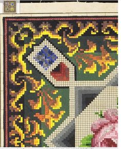 Square Patterns, Vintage Embroidery, Berlin, Projects To Try, Cross Stitch, Quilts, Blanket, Beads, Art