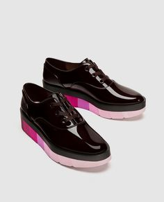 030127b7083 Image 1 of MULTICOLOURED FLATFORM BROGUES from Zara Nouvelle Collection  Zara