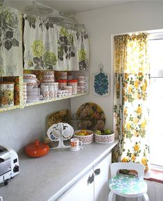 the colourful corner of our old kitchen