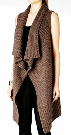 Natural Lambswool Sleeveless Cardigan