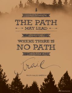 Victory Paper Designs: Leave a trail