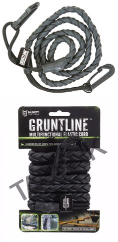 GEAR AID Gruntline Elastic Cord and Utility Line or Clothesline, Black, 7 ft Edc Tactical, Tactical Equipment, Survival Equipment, Zombie Apocalypse Survival, Survival Weapons, Survival Skills, Outdoor Survival Gear, Camping Survival, Bug Out Gear