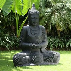 Large Garden Statues - Praying Thai Buddha Stone Sculpture for sale online Buda Statue, Buddha Artwork, Buddha Decor, Rock Sculpture, Sitting Buddha, Skyline Design, Spiritual Images, Meditation Garden, Buddha Zen