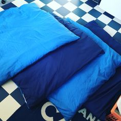 Doggie duvets made out of an old duvet and cover heading for the bin