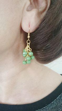 Emerald Green Cluster Earrings Cluster Crystal by LTLDizaynDIY