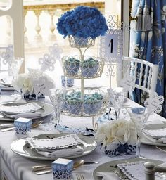 #centerpiece #wedding #blue Kinda cute