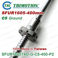 TBI 1605 C5 400mm ballscrew Ground with SFU1605 ball nut for high precision CNC kit SFU #Affiliate