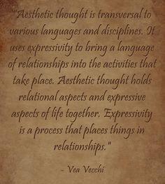 Vea Vecchi on Aesthetic Thought