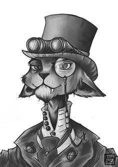 steam punk cat