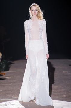 1.Lingerie Dress: Francesco Scognamiglio Fall 2013 Ready-to-Wear Collection. This contemporary perspective on a Lingeirie dress plays with textural lace,translucent fabric, and the absence of ruffles for a more revealing result than that of the traditional lingerie dress.