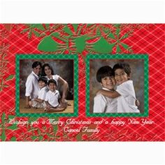 """Red & Green Xmas Cards by Ivelyn - 5"""" x 7"""" Photo Cards                Insert your own photos"""