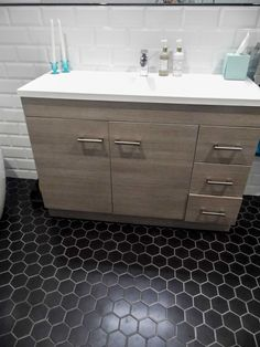 HEXAGONS | Hexagon Tile Collection | Add design flair to any interior space by using hexagonal tiles which are a current tile trend. Visit y...