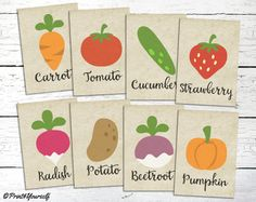 Vegetable Signs // Instant Download Printable by Print4Yourself